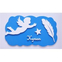 Plaque nuage ange personnalisée