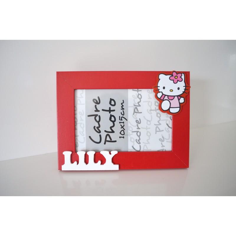 Cadre photo Hello Kitty personnalisée